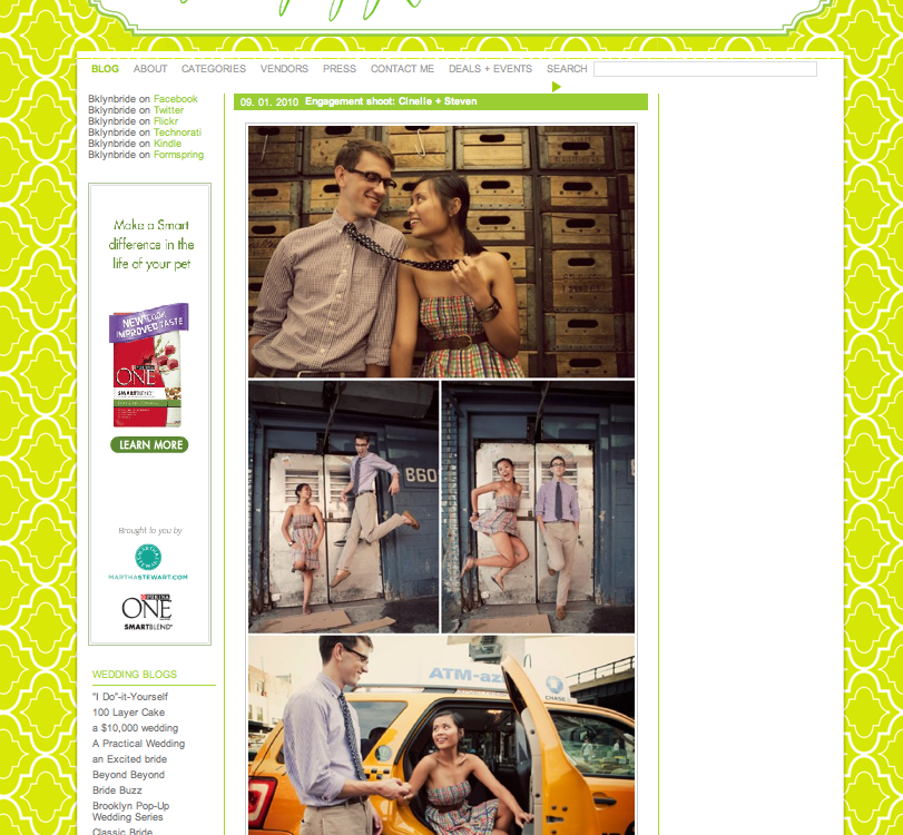 Featured on Brooklyn Bride | Cinelle+Stephen