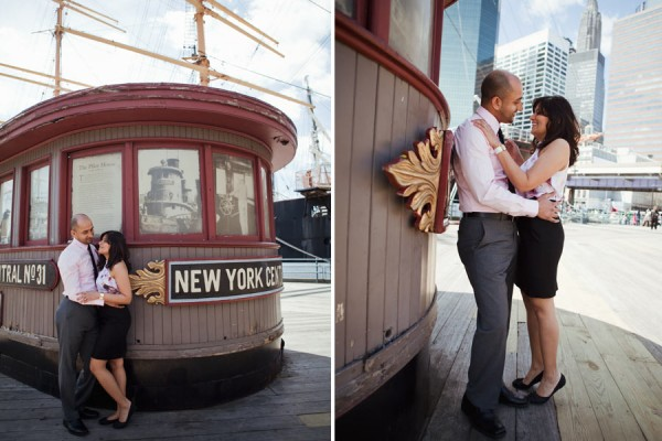 Reena+Shawn | South Street Seaport | Engagement
