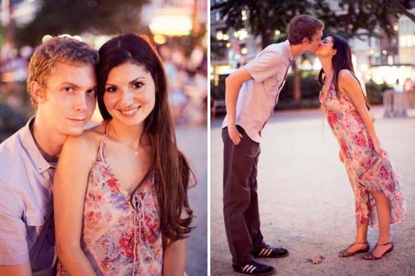 Claudine+Woodrow |  Engagement  | Madison Square park