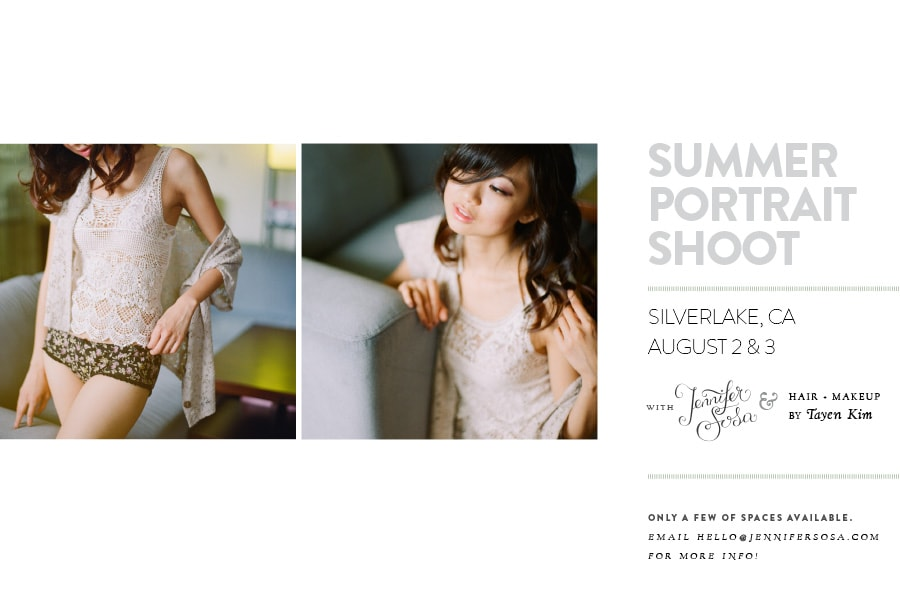 Silver Lake, Ca Summer Portrait shoots
