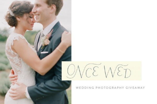 Once Wed Wedding Photography giveaway!